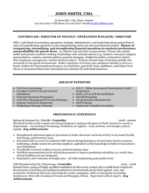 top supply chain resume templates samples examples executive director finance controller Resume Supply Chain Resume Examples