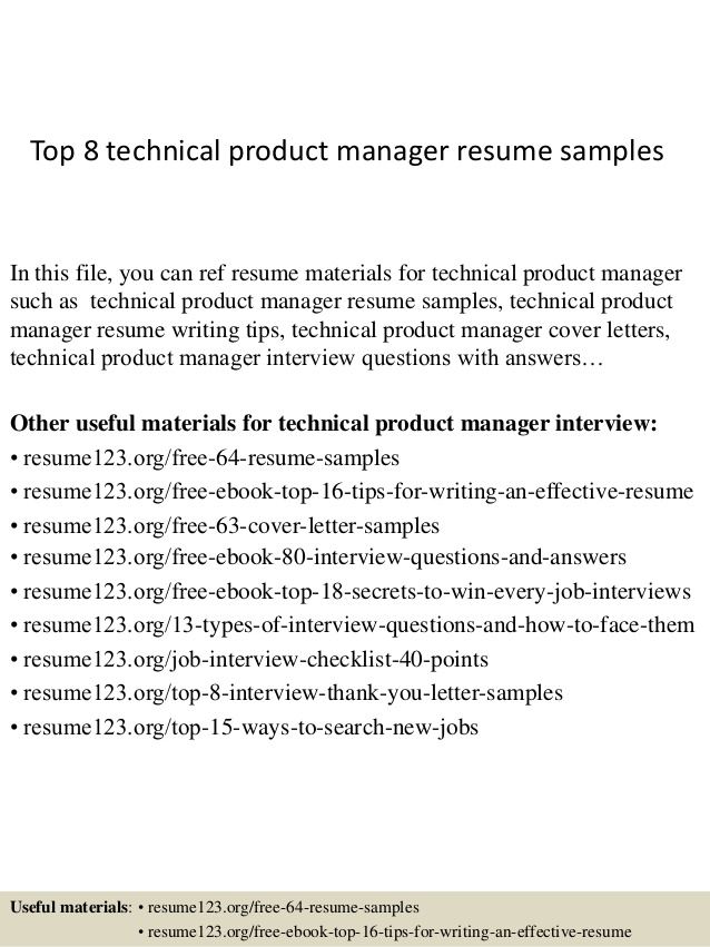 top technical product manager resume samples sample for acting job fast and easy builder Resume Product Manager Resume Sample