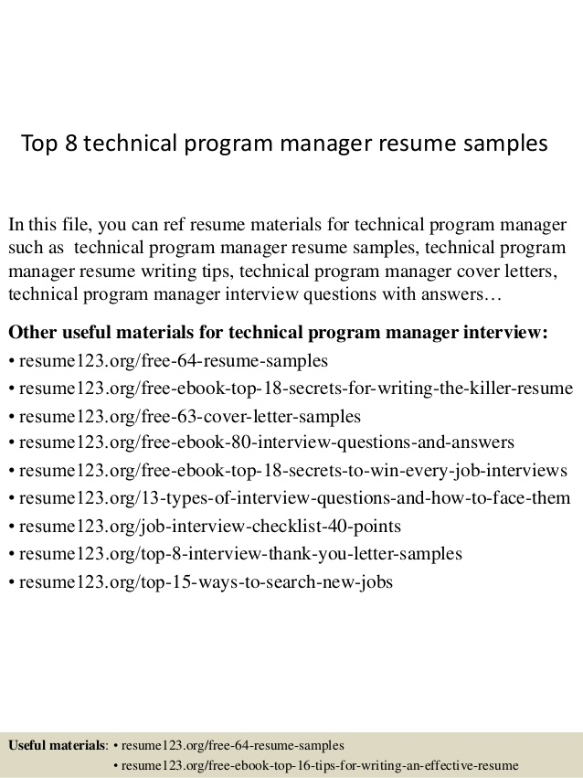 top technical program manager resume samples examples fancy leadership skills awesome Resume Technical Program Manager Resume Examples
