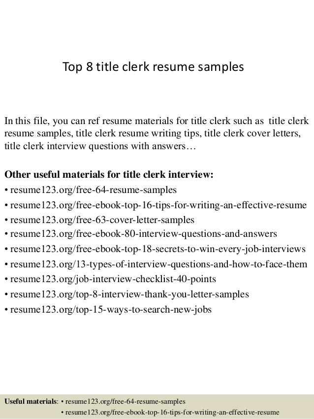 top title clerk resume samples auto sample on the job training objectives template for Resume Auto Title Clerk Resume Sample
