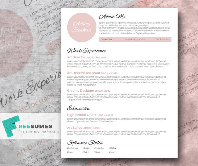 touch of pink beautiful free resume template freesumes templates elegant cv best word Resume Beautiful Resume Templates Download