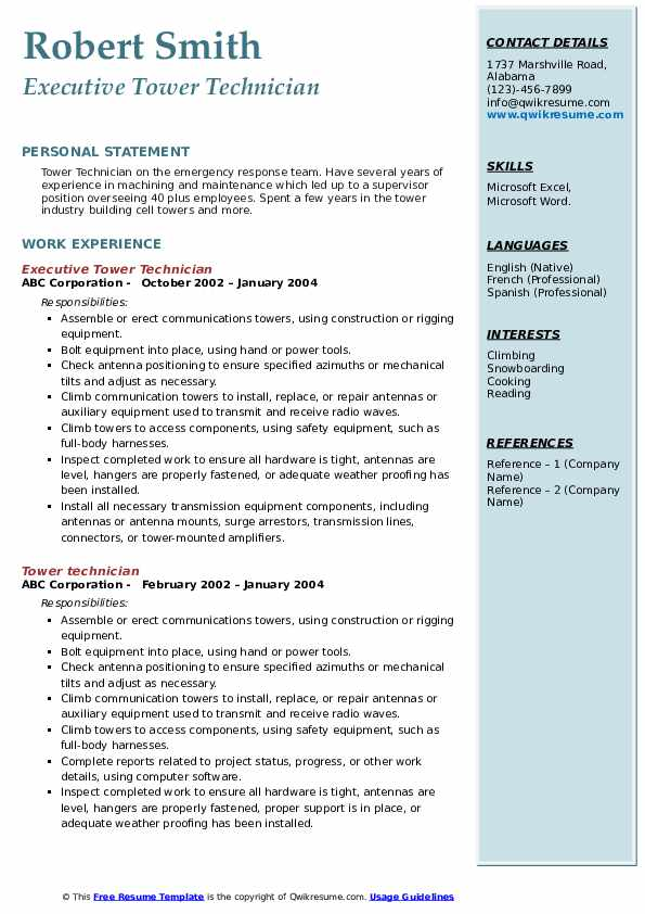 tower technician resume samples qwikresume cell pdf fraud analyst regional manager Resume Cell Tower Technician Resume