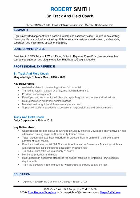 track and field coach resume samples qwikresume sample pdf free printable templates Resume Track And Field Resume Sample