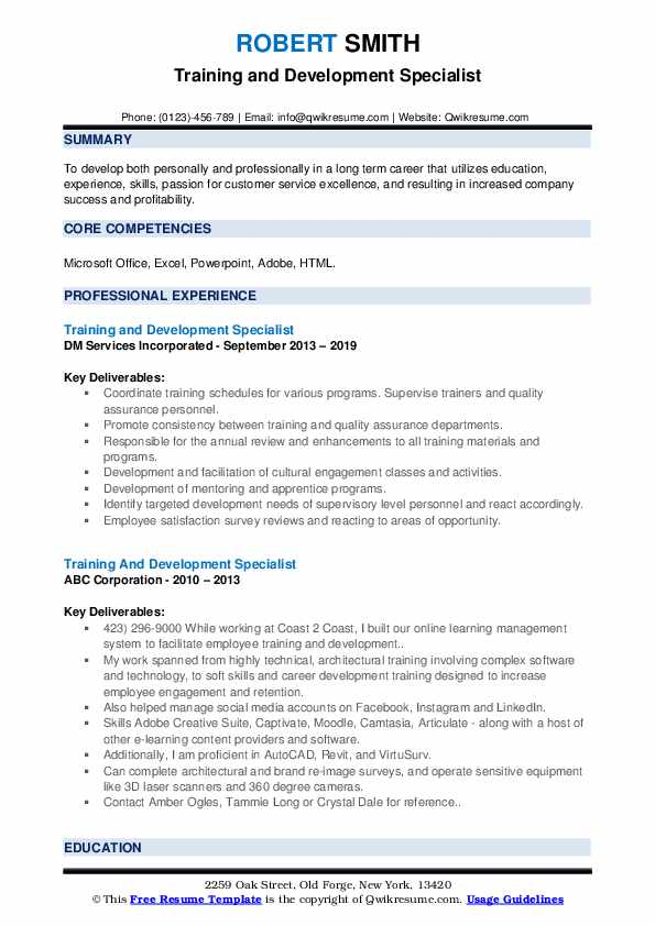 training and development specialist resume samples qwikresume help train new employees on Resume Help Train New Employees On Resume