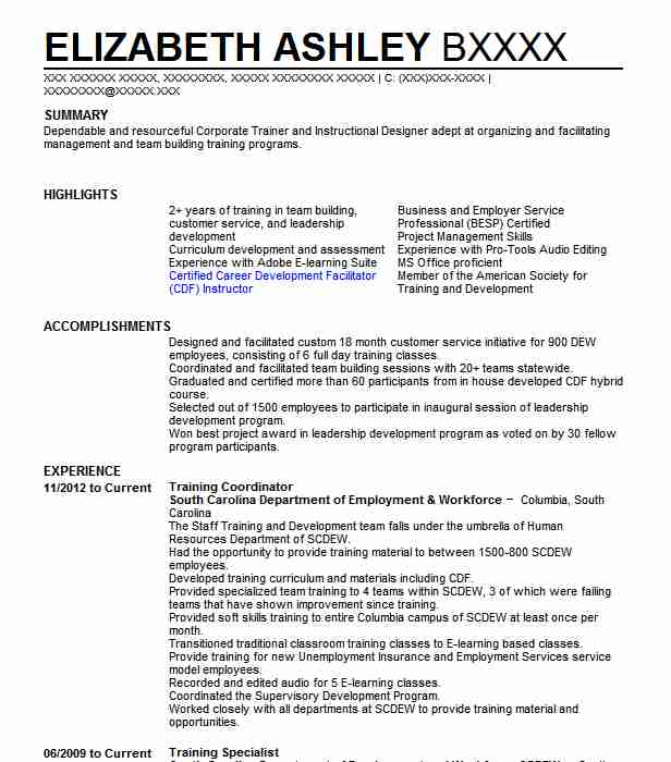 training coordinator resume example kelly technical services freeland sample entry level Resume Training Coordinator Resume Example Sample