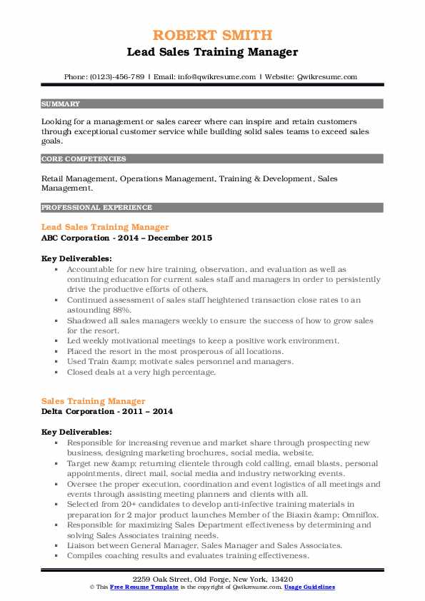 training manager resume samples qwikresume retail pdf specialist study abroad example Resume Retail Training Manager Resume