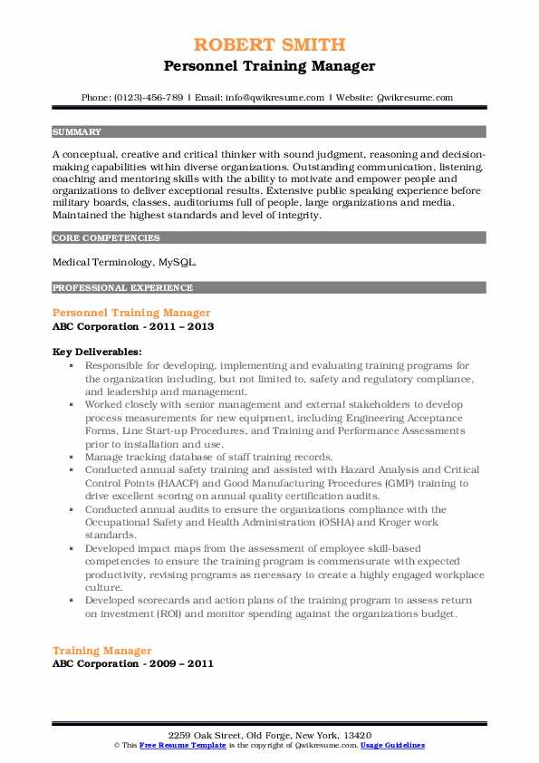 training manager resume samples qwikresume retail pdf template now arcgis outline free Resume Retail Training Manager Resume