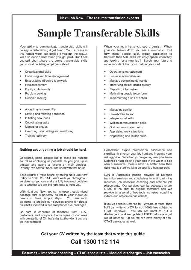 transferable skills guide resume checklist of impressive with cover letter examples Resume Resume Checklist Of Transferable Skills