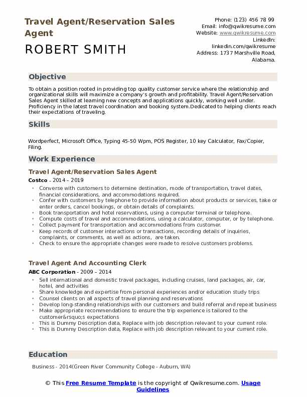 travel agent resume samples qwikresume summary pdf calling after submitting quotes sample Resume Travel Agent Resume Summary
