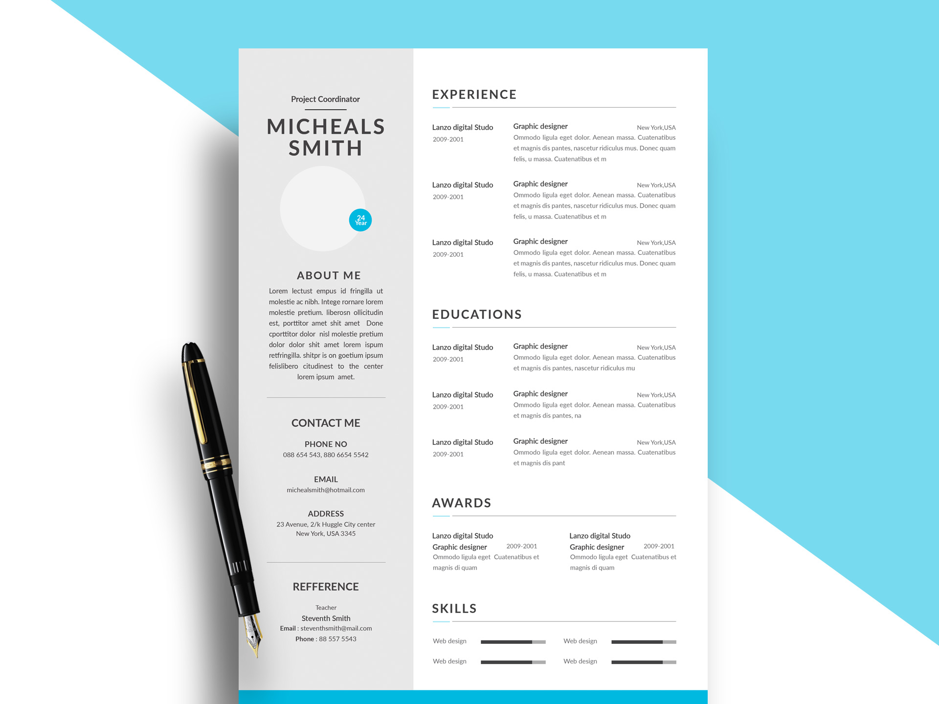 two column resume template in format daily mockup modern free awesome templates microsoft Resume Two Column Resume Format