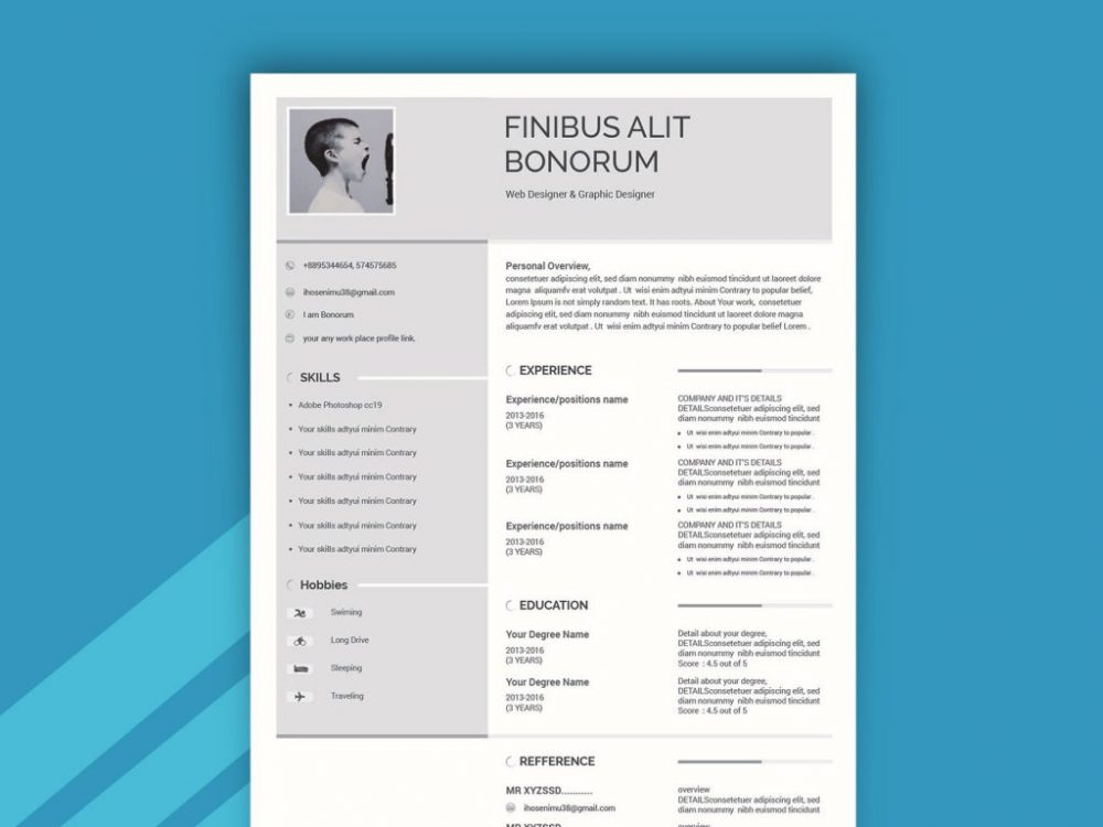 two column simple resume template with cover letter daily mockup format free file Resume Two Column Resume Format