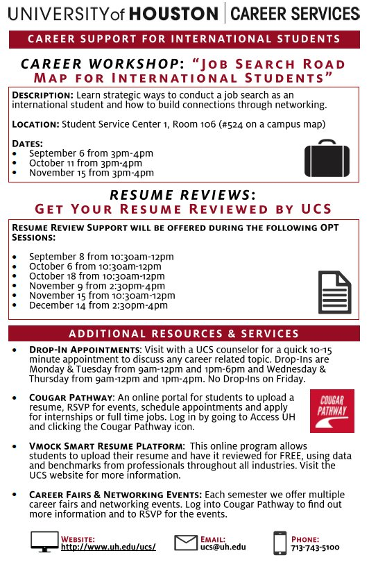 uh career services on attention check out these awesome events just for you oisss resume Resume Uh Career Services Resume