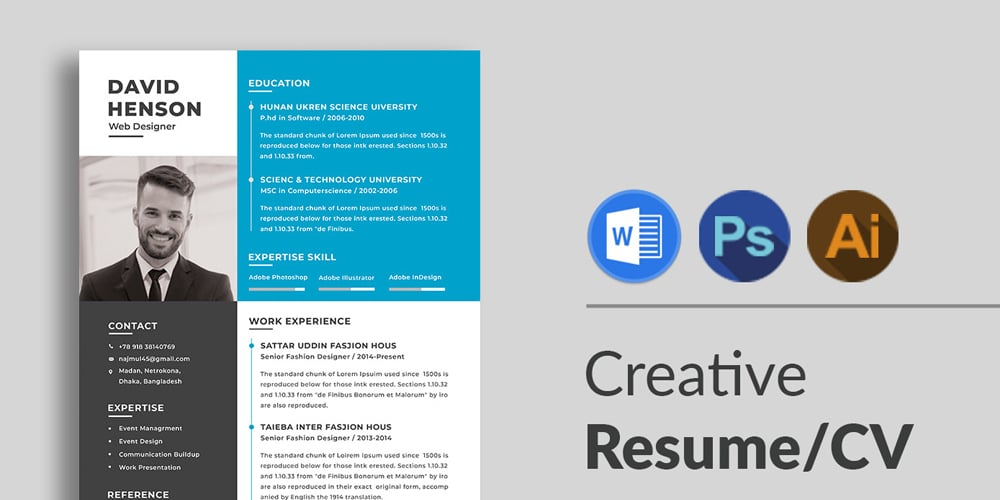ultimate collection of free resume templates author photoshop template design insurance Resume Free Resume Photoshop Templates