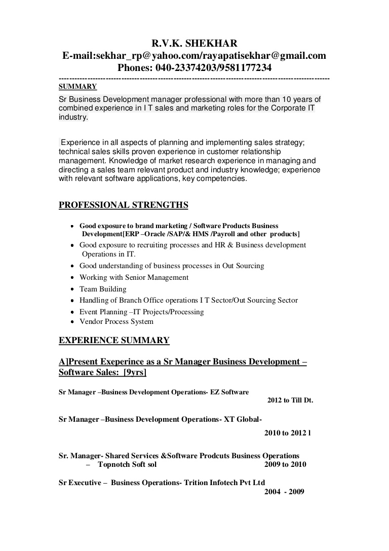 updated business development manager resume director of Resume Director Of Business Development Resume