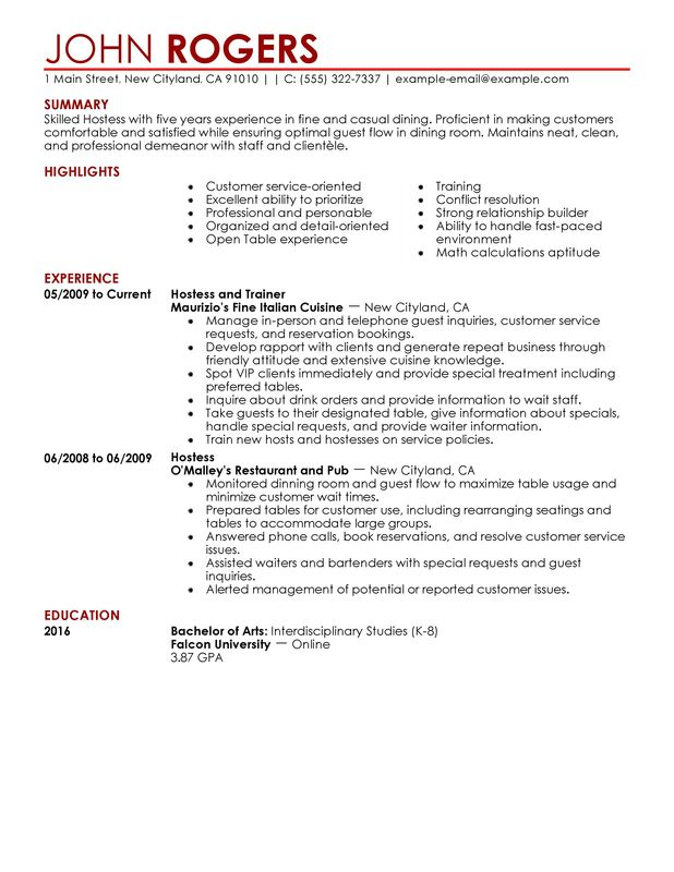 use this host and hostess resume example to inspire yours description food restaurant Resume Hostess Resume Description