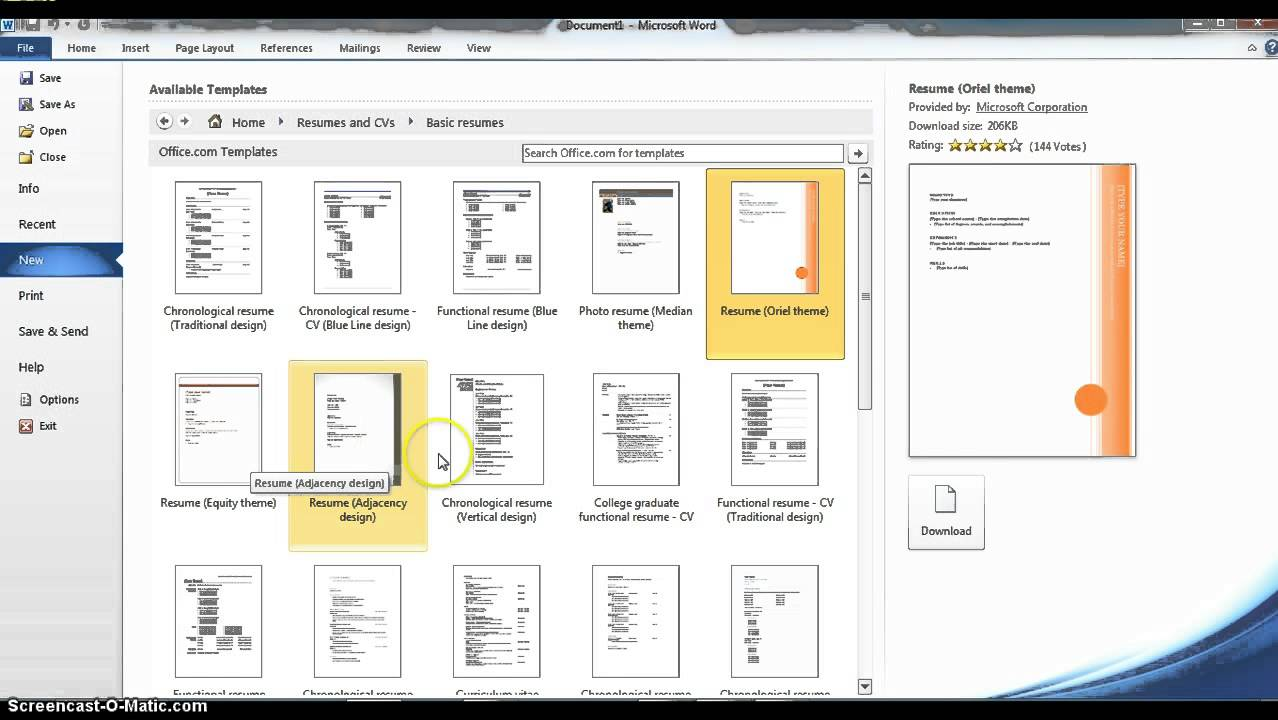 using microsoft word resume templates tutorial writing management experience assistant Resume Microsoft Word Resume Tutorial