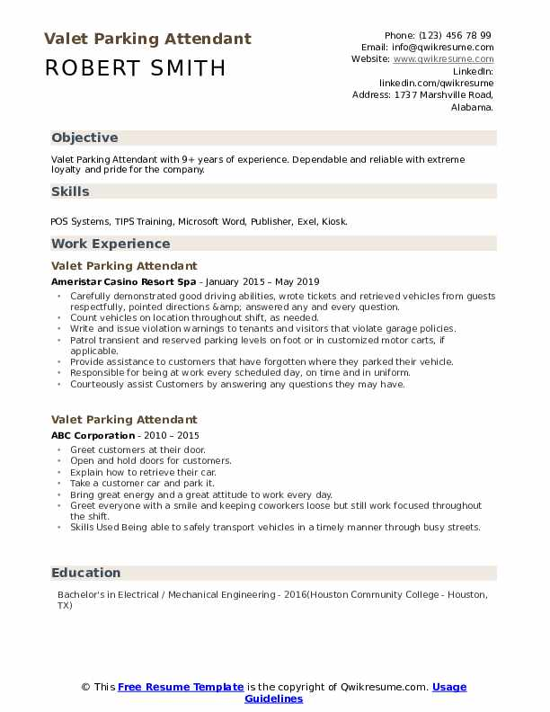 valet parking attendant resume samples qwikresume sample pdf please find attached and Resume Valet Attendant Resume Sample