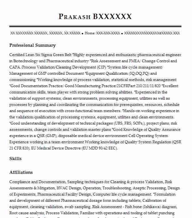 validation engineer project lead resume example valsource llc londonderry new cleaning Resume Cleaning Validation Resume