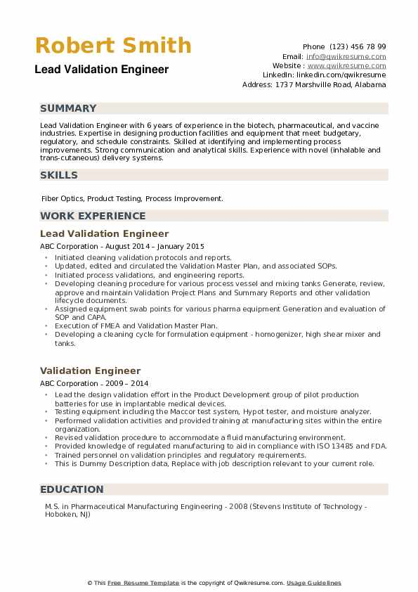 validation engineer resume samples qwikresume cleaning pdf tour guide knowledge of Resume Cleaning Validation Resume