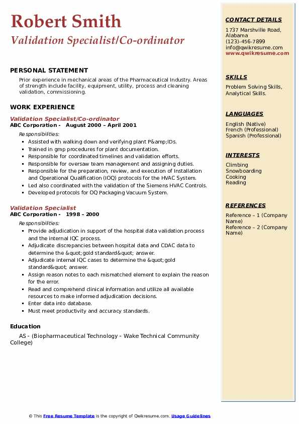 validation specialist resume samples qwikresume cleaning pdf easy format for job artist Resume Cleaning Validation Resume