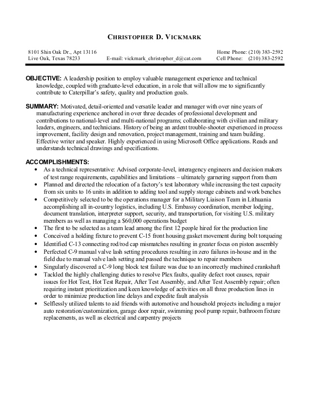 vickmark christopher open objective resume for leadership position vickmarkchristopherd Resume Resume Objective For Leadership Position