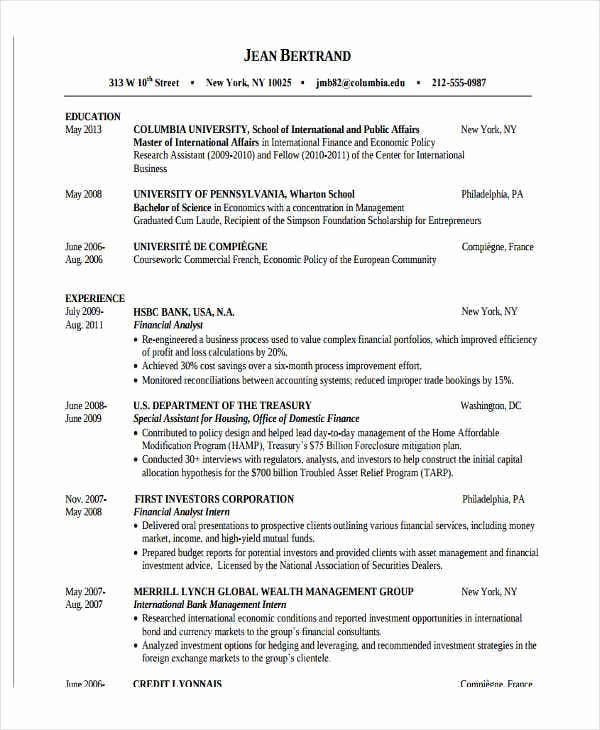 wealth management intern resume alay inspirational format for freshers job samples of Resume Wealth Management Intern Resume
