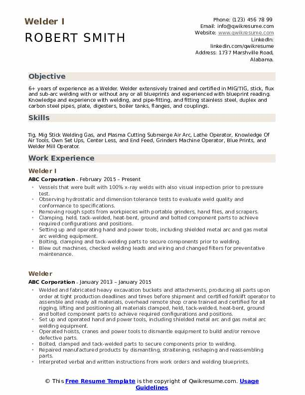 welder resume samples qwikresume certified example pdf experience description examples Resume Certified Welder Resume Example