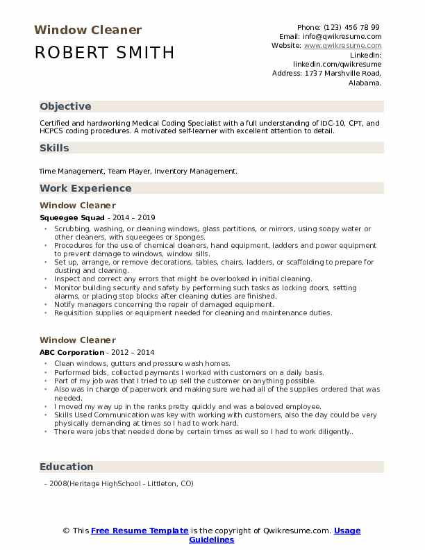 window cleaner resume samples qwikresume cleaning objective for pdf profile business new Resume Cleaning Objective For Resume