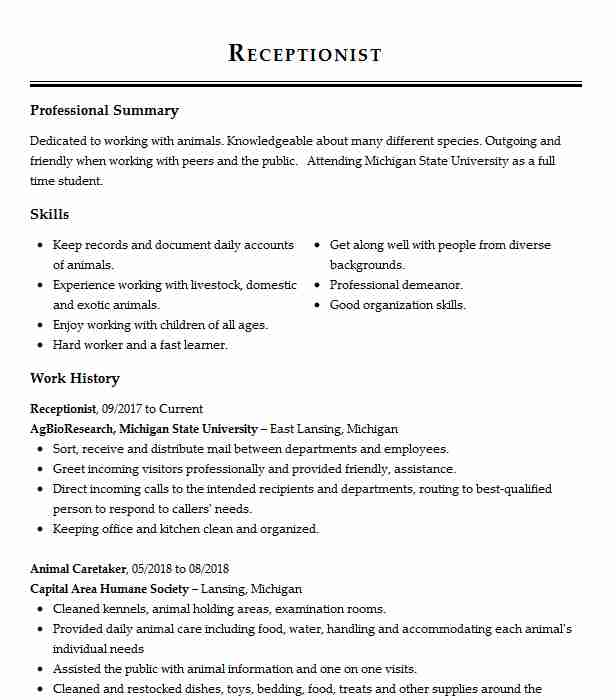 with receptionist resume samples format best professional security psecu application Resume Best Receptionist Resume