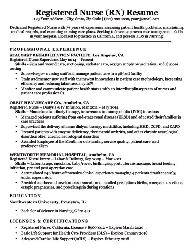 with registered nurse resume format sample using powerpoint mechanic skills architecture Resume Registered Nurse Resume Sample