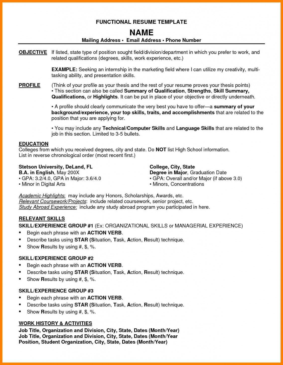 word combination resume template builder example sample pdf letter adress computer Resume Combination Resume Sample