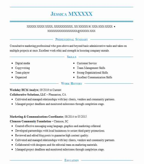 workday hcm consultant resume example accenture north carolina integration call Resume Workday Integration Resume
