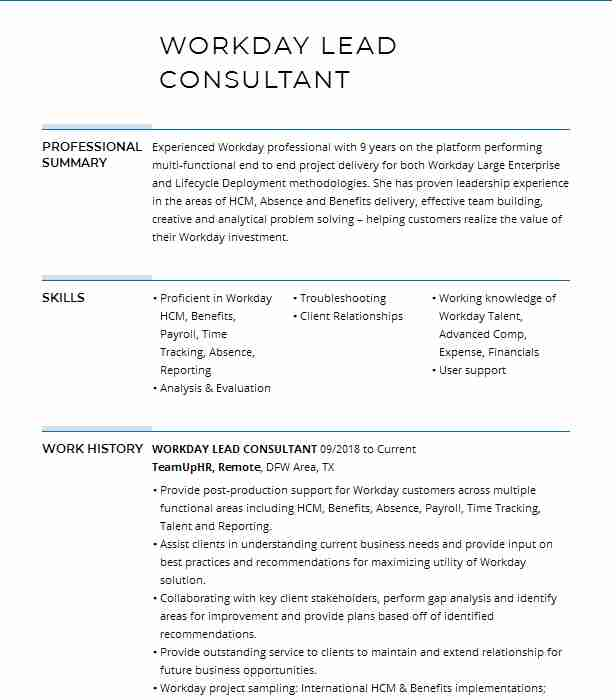 workday project lead resume example daynine consulting portland integration feld career Resume Workday Integration Resume