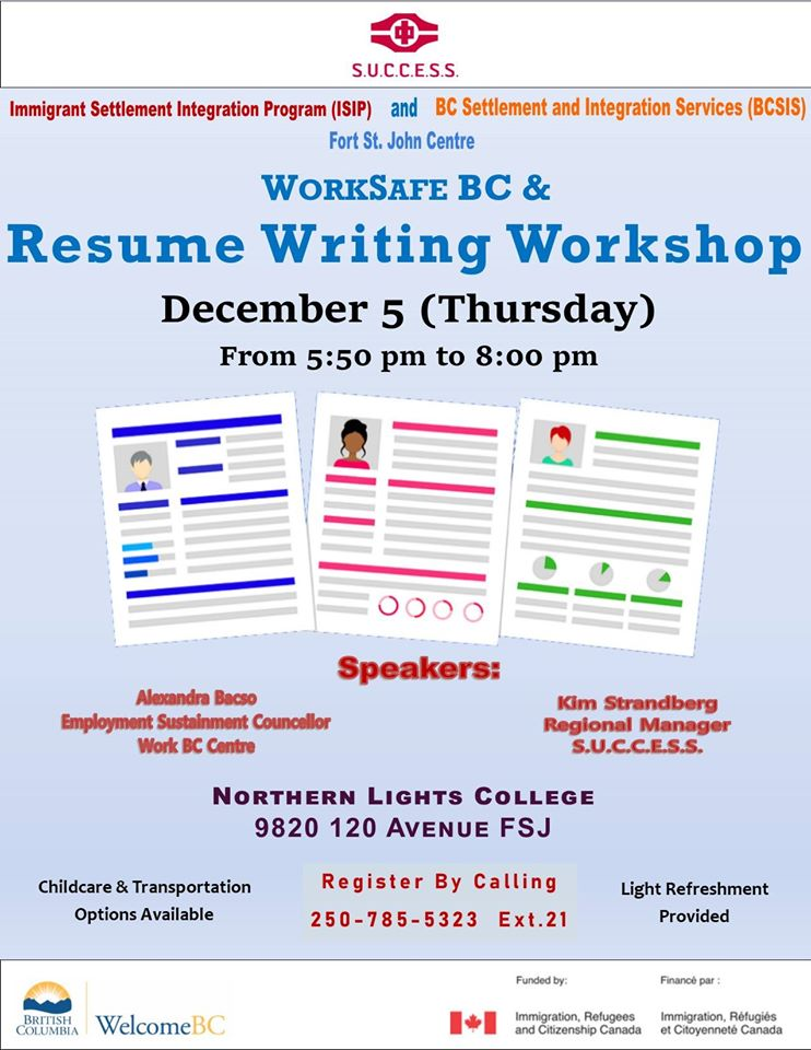 worksafe and resume writing workshop energeticcity local news from northeast free windows Resume Resume Writing Workshop