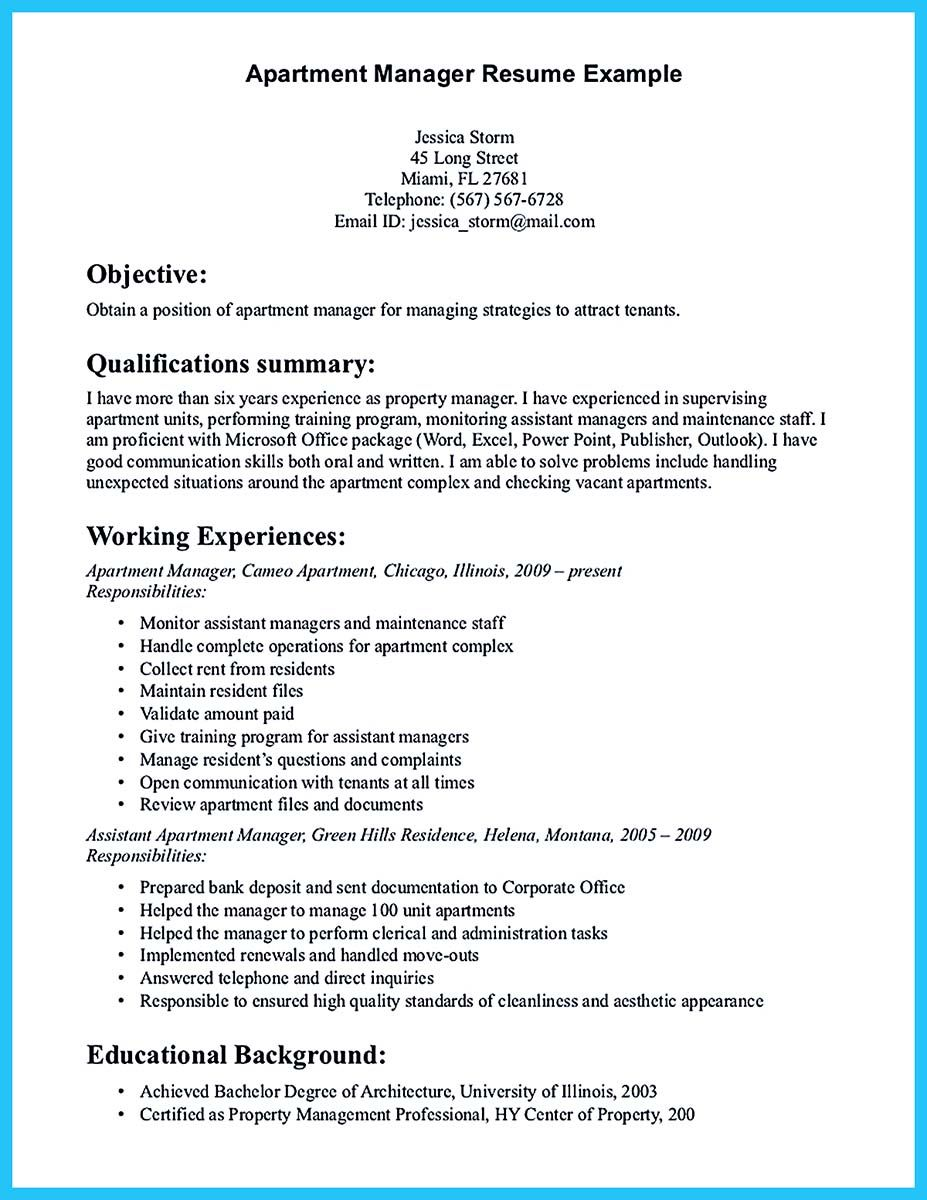 writing great assistant property manager resume examples cover letter for dietary aide Resume Assistant Property Manager Resume