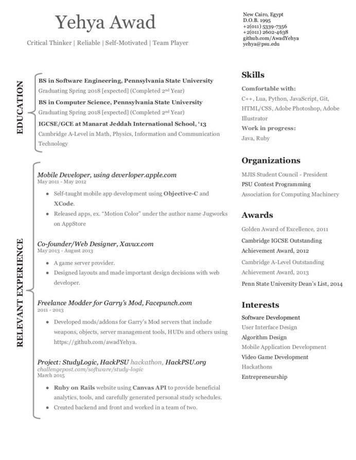 yehya awad resume may pdf archive self taught programmer preview whats title certified Resume Resume Self Taught Programmer