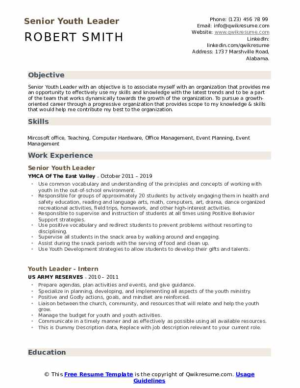 youth leader resume samples qwikresume ministry objective examples pdf business banking Resume Ministry Objective Resume Examples