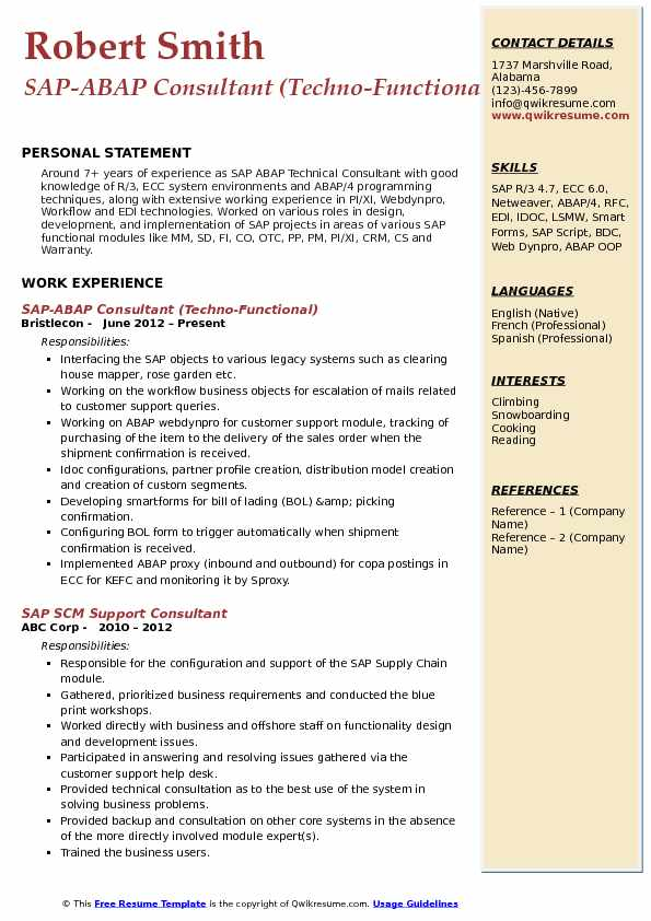 abap consultant resume samples qwikresume sap workflow pdf about yourself for visual Resume Sap Abap Workflow Resume