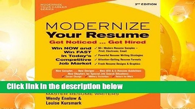about for books modernize your resume get noticed hired complete dailymotion cement Resume Modernize Your Resume Get Noticed Get Hired
