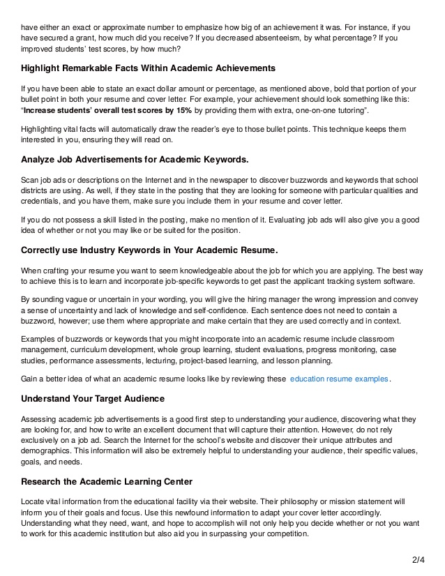 academic achievements examples cprc resume writing tips to fasttrack your job application Resume Academic Achievements Resume Examples