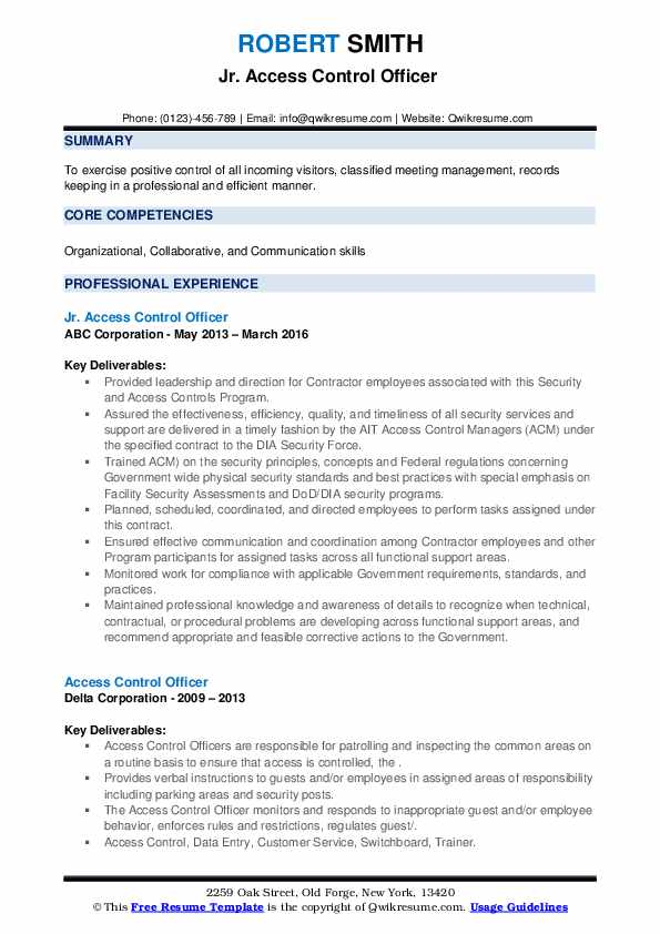 access control officer resume samples qwikresume security pdf admin examples bloomberg Resume Security Access Control Resume