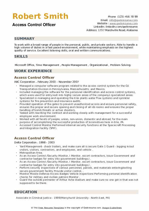 access control officer resume samples qwikresume security pdf finance examples Resume Security Access Control Resume