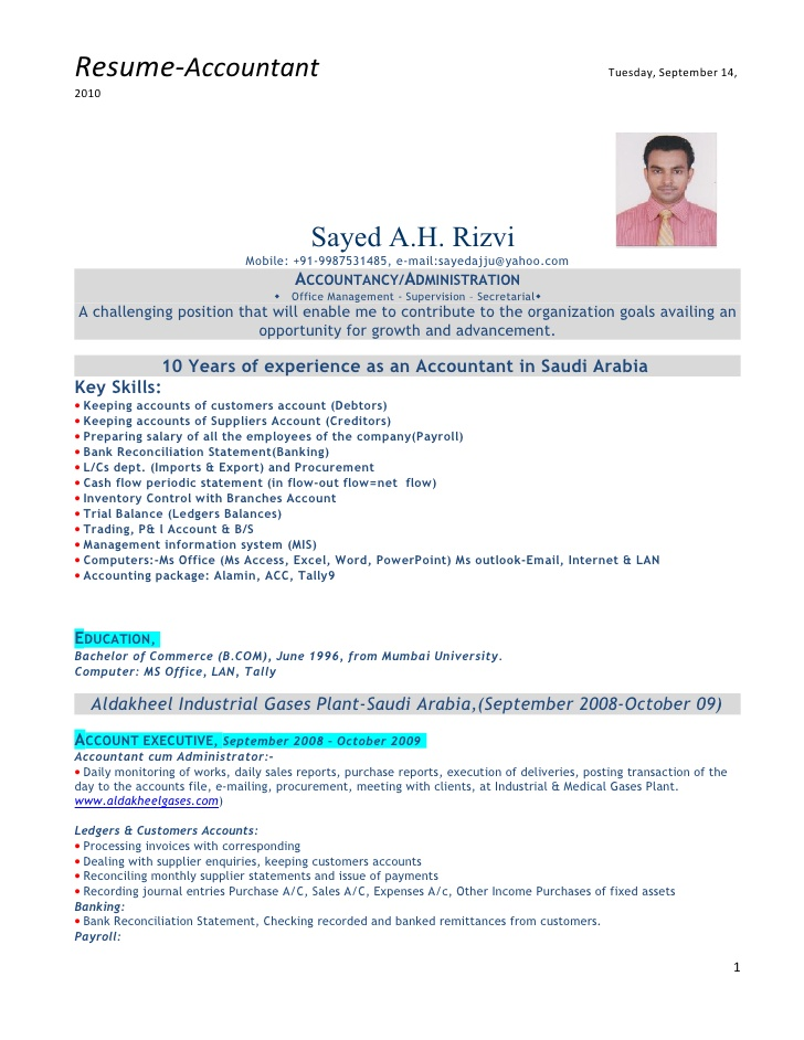 accountant with experience work resume financial analyst summary sample of medical Resume Work Experience Accountant Resume
