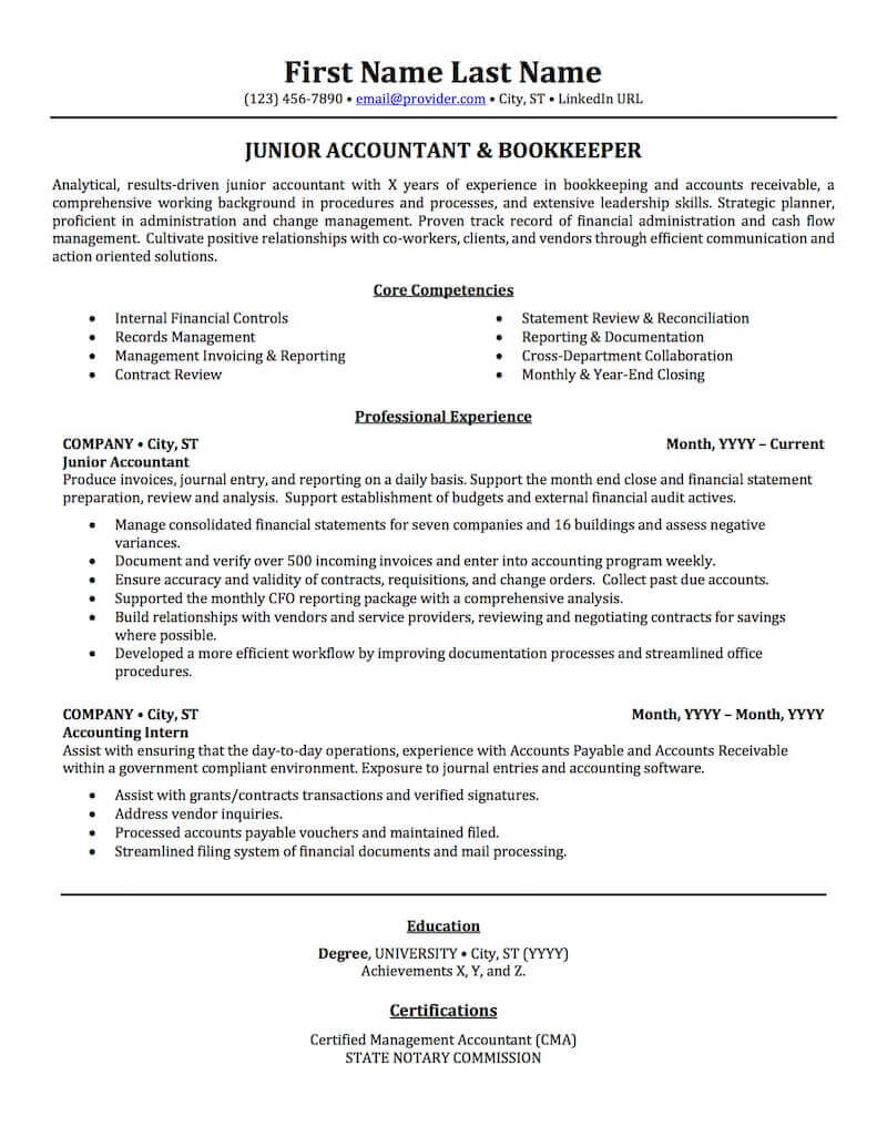 accounting auditing bookkeeping resume samples professional examples topresume skills Resume Accounting Resume Skills Summary