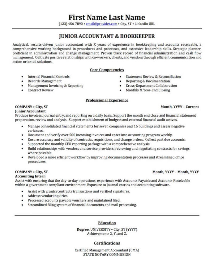 accounting auditing bookkeeping resume samples professional examples topresume work Resume Work Experience Accountant Resume