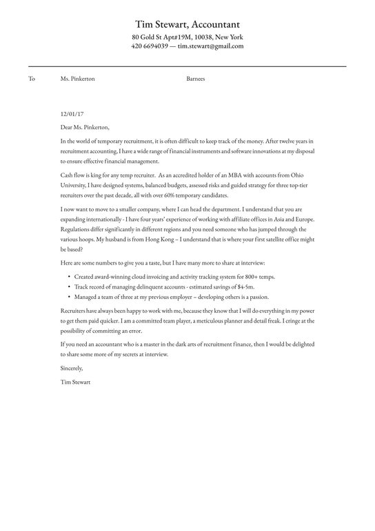 accounting cover letter examples expert tips free resume io sheet example scientific vet Resume Resume Cover Sheet Example