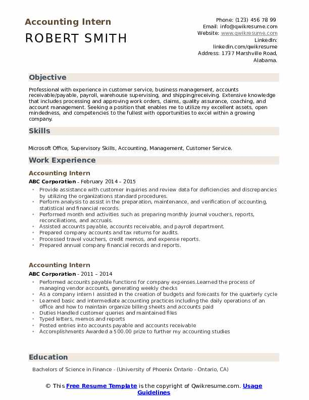 accounting intern resume samples qwikresume work experience accountant pdf character Resume Work Experience Accountant Resume