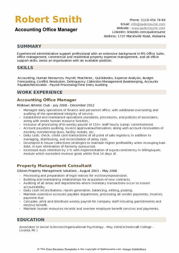 accounting office manager resume samples qwikresume example pdf auto title clerk sample Resume Office Manager Resume Example