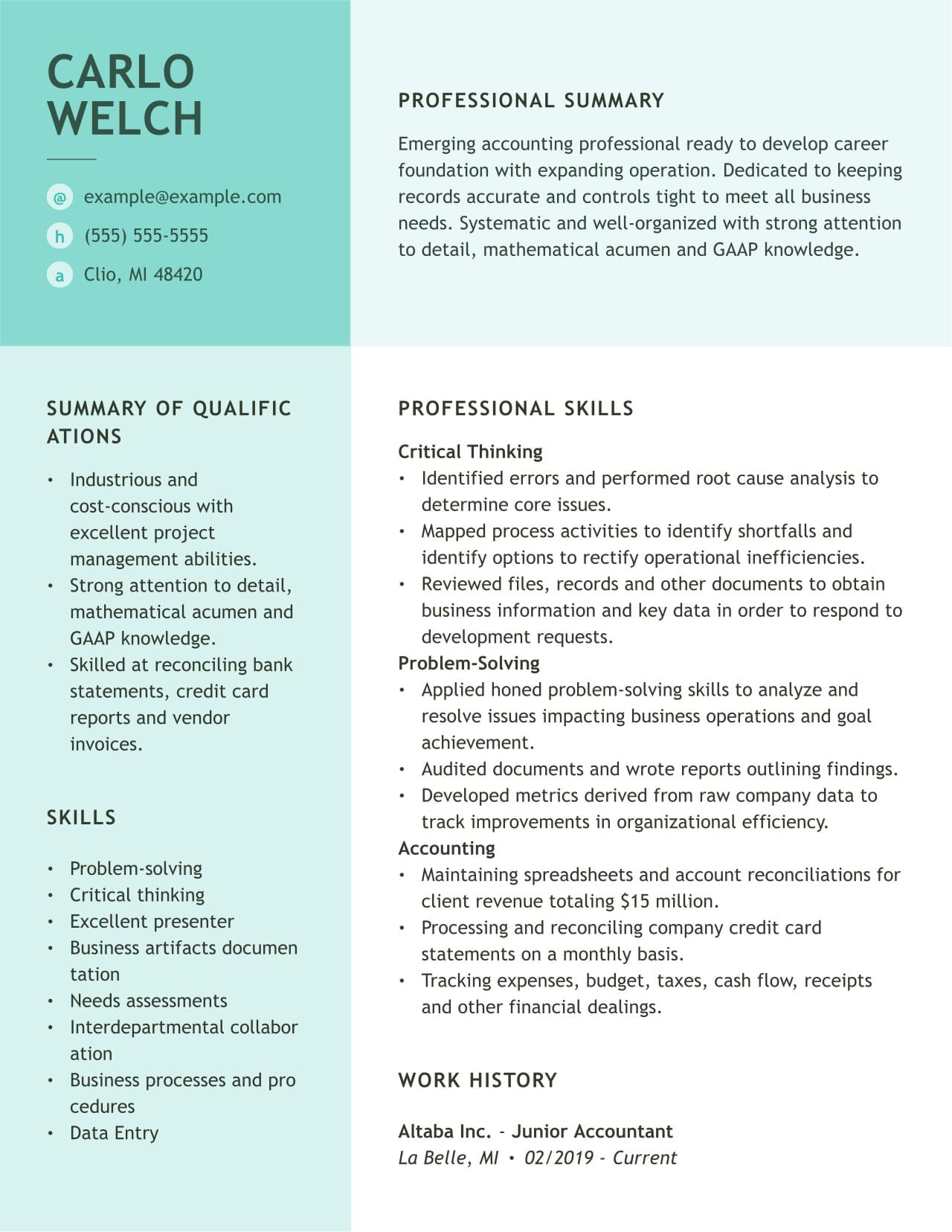 accounting resume examples and guides myperfectresume knowledge skills abilities sample Resume Knowledge Skills And Abilities Resume Sample