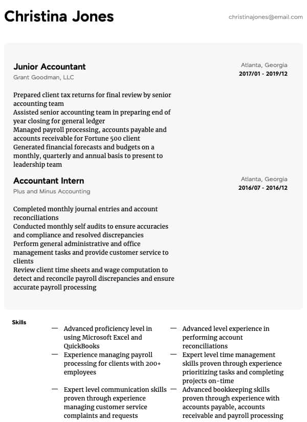 accounting resume samples all experience levels credit card reconciliation general Resume Credit Card Reconciliation Resume